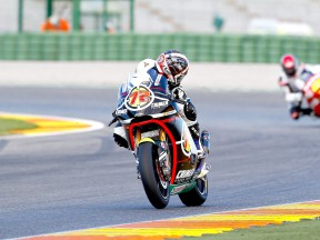 Yuki Takahashi in action in Valencia test