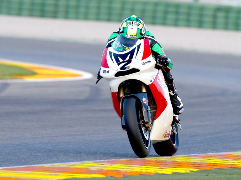 Gabor Talmacsi in action in Valencia test
