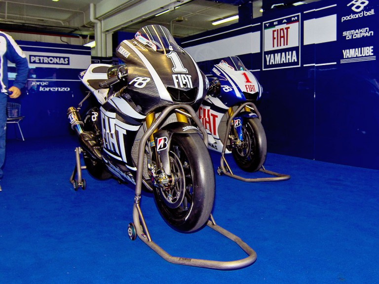 Yamaha Factory Racing garage