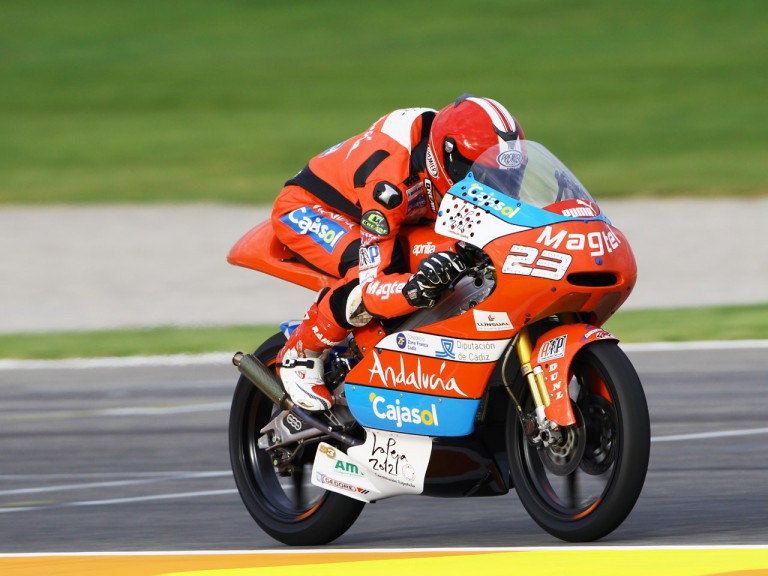 Alberto Moncayo in action at the Valencia GP