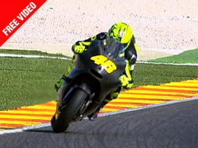 Valentino Rossi makes his first outing with Ducati