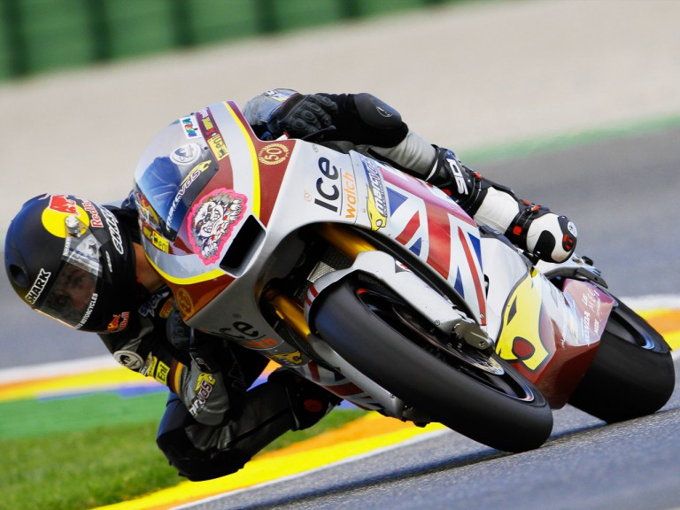 Scott Redding in action in Valencia test