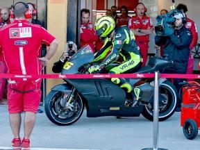 Valentino Rossi at Valencia test