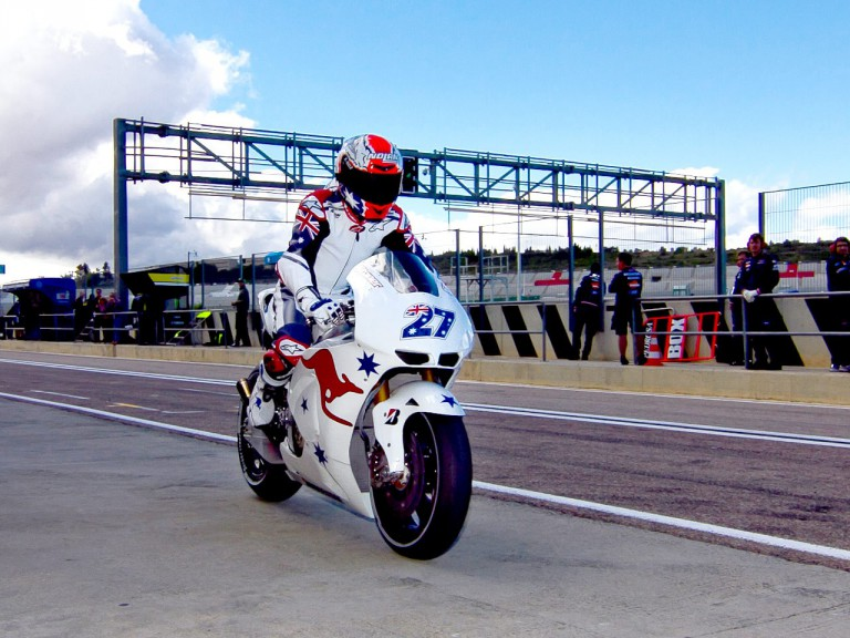 Casey Stoner at Valencia test