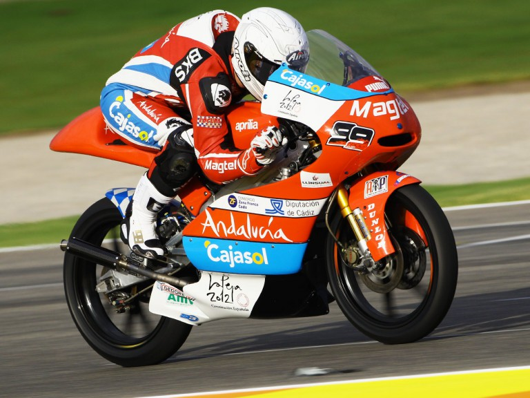 Danny Webb in action at the Valencia GP