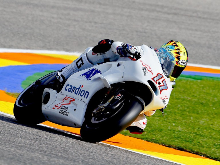 Karel Abraham in action at Valencia test