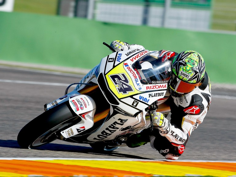 Toni Elías in action at Valencia test