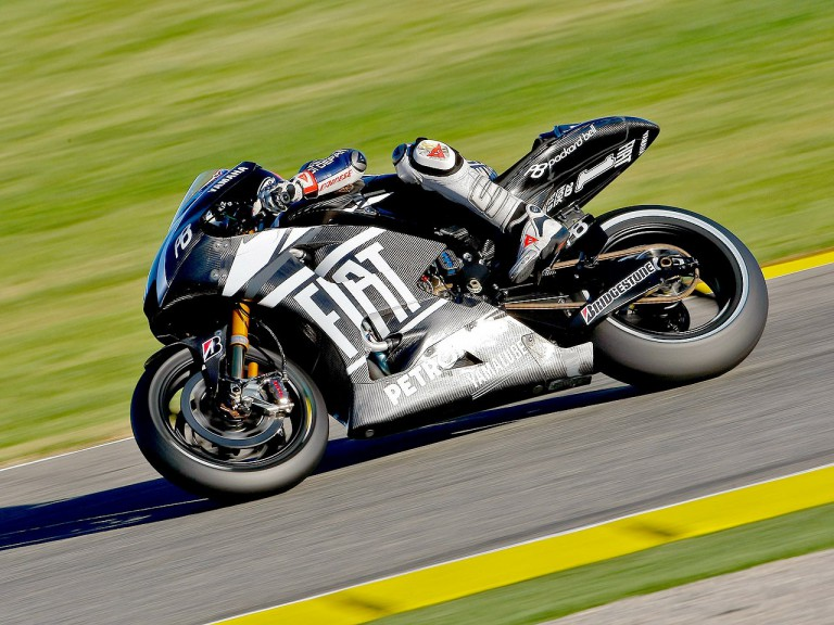 Jorge Lorenzo in action at Valencia test