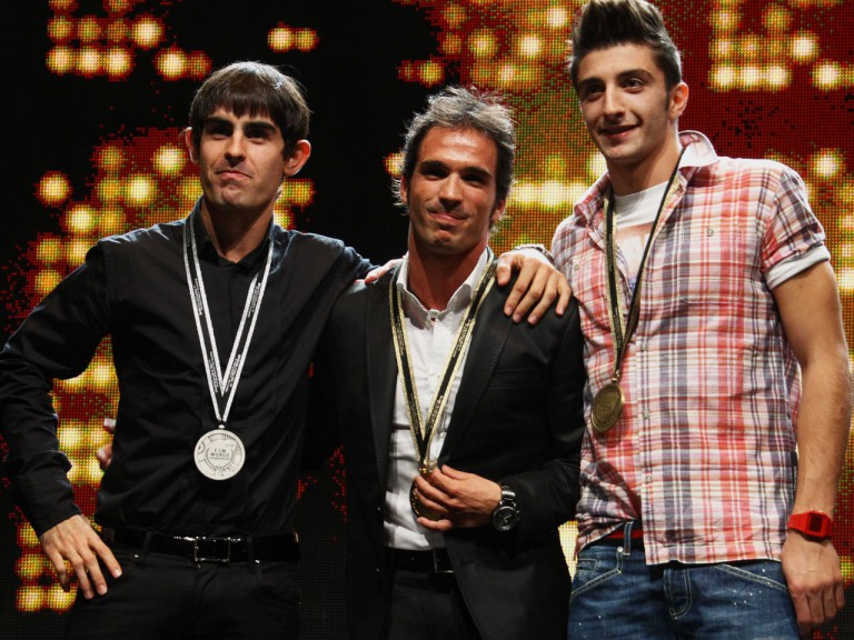 Simón, Elias and Iannone at the 2010 FIM Awards ceremony