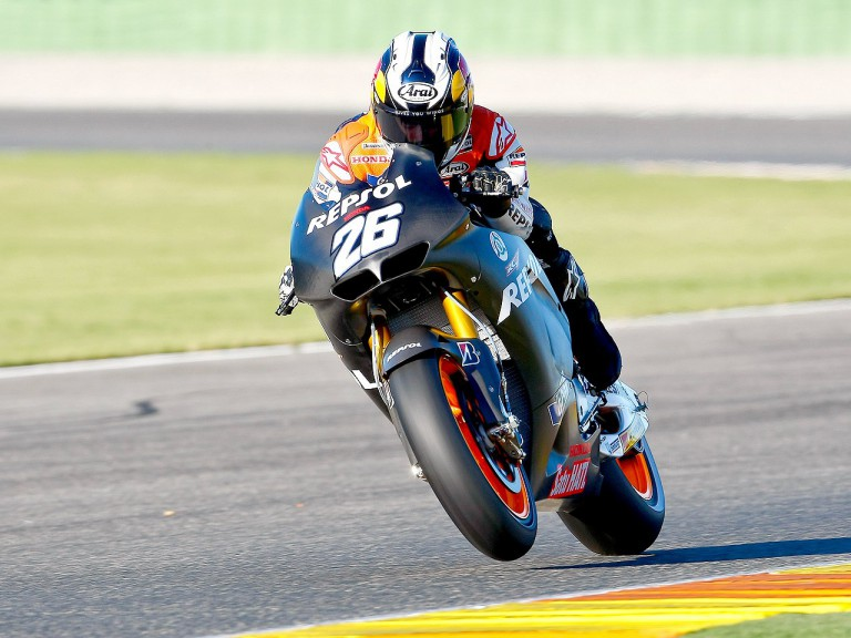 Dani Pedrosa in action at Valencia test