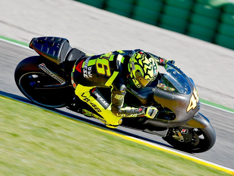 Valentino Rossi in action at Valencia test