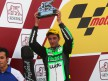 Andrea Iannone on the podium in the Valencia GP