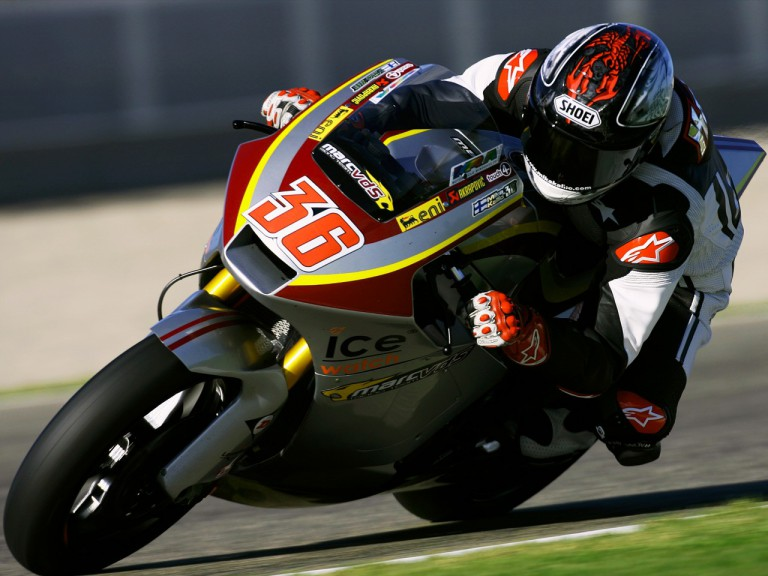 Mika Kallio in action in the test of Valencia