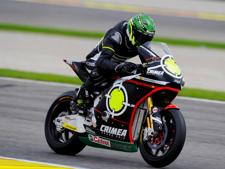 Pirro in action at the Valencia Test