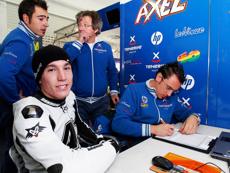 Aleix Espargaro in the Tenerife 40 Pons Box