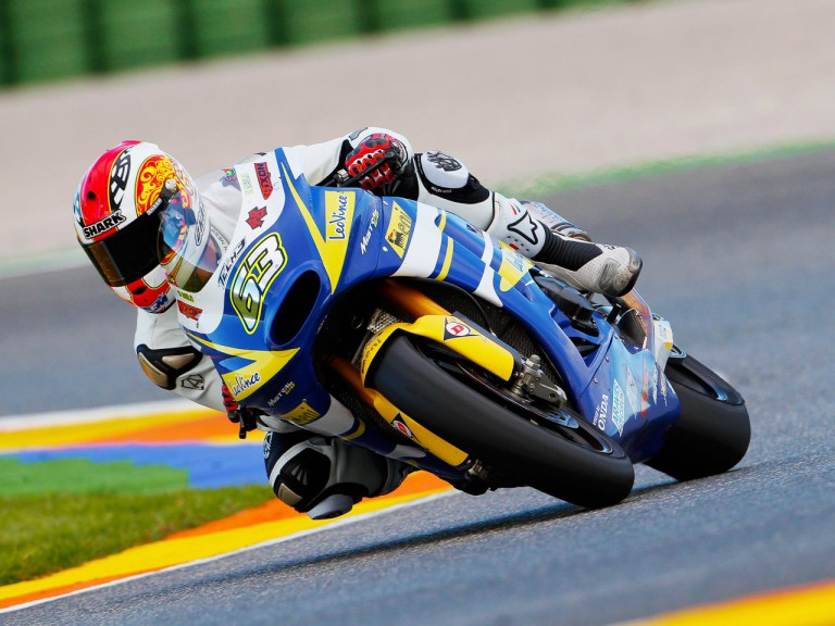 Mike Dimeglio in action in the Valencia Test