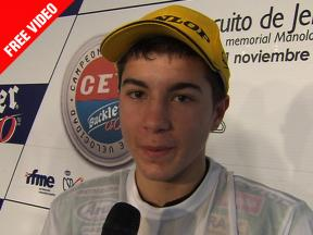 2010 Jerez - CEV Buckler - Round 07 - 125 - Interview - Maverick Viñales