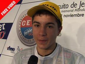 2010 Jerez - CEV Buckler - Round 07 - 125 - Interview - Maverick Viñales