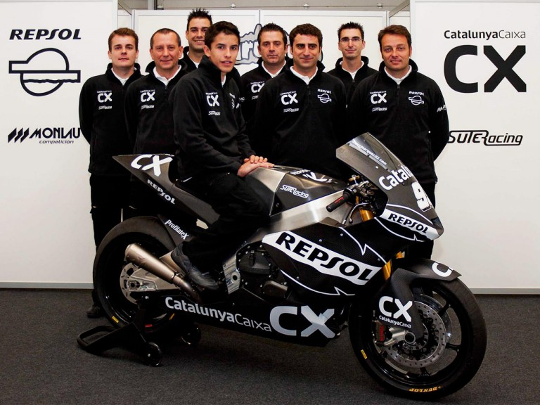 Marc Marquez and his new Moto2 team the Monlau Competition