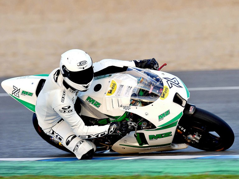 Max Neukirchner in action at Valencia test