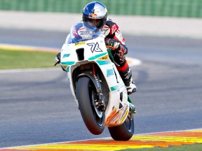 Jonas Folger in action at Valencia test