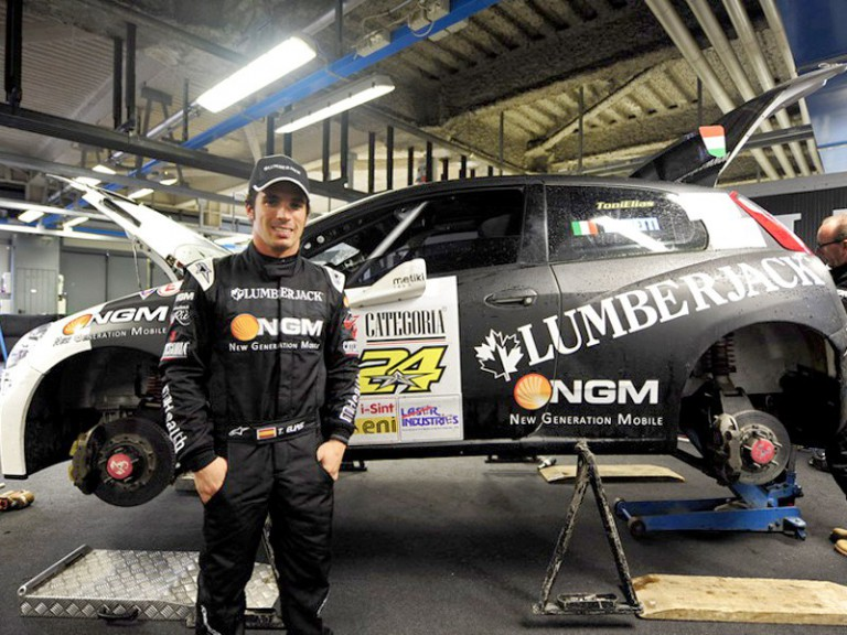 Toni Elías at the Monza Rally Show