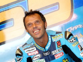 Loris Capirossi in the garage