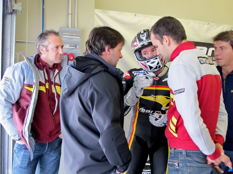 Marc VDS Racing Team garage at Jerez test
