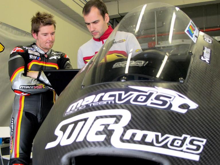 Marc VDS Racing Team garage at Jerez test