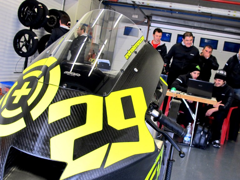 WTR/Speed Master Team garage at Jerez test