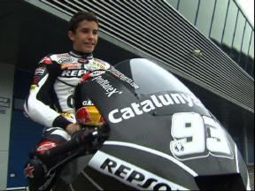 Marquez gets ready for his Moto2 debut