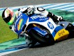 Aleix Espargaró in action at the Jerez test