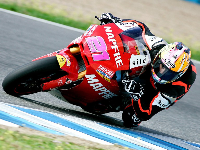 Javier Fores in action at the Jerez test