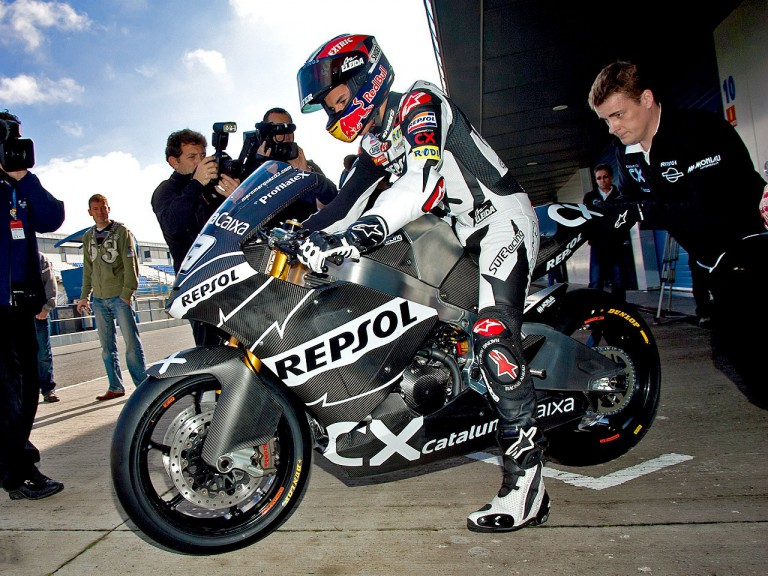 Marc Marquez at the Jerez test