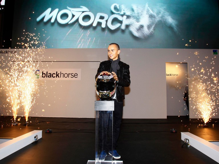 Jorge Lorenzo at the Carole Nash Motorcycle Live