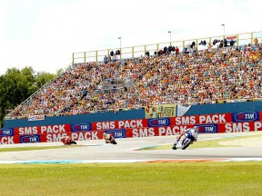 MotoGP group in action at Assen