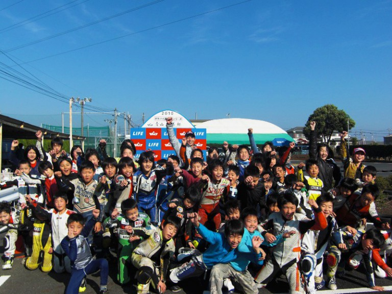 Hiroshi Aoyama's pocket bike cup