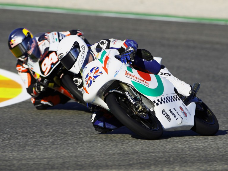 Danny Kent with Lambretta Reparto Corse at the Valencia GP