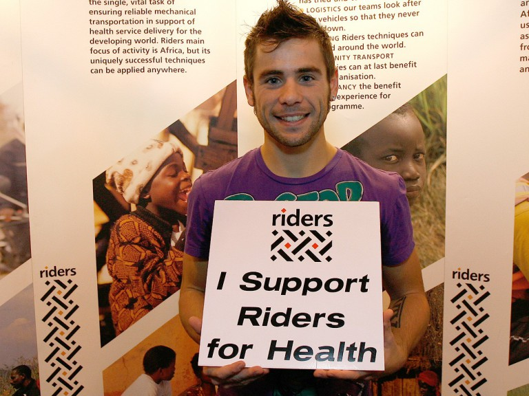 Alvaro Bautista supports Riders for Health