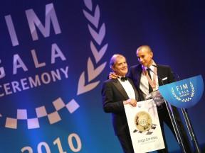 MotoGP Legend Giacomo Agostini and 2010 MotoGP World Champion Jorge Lorenzo
