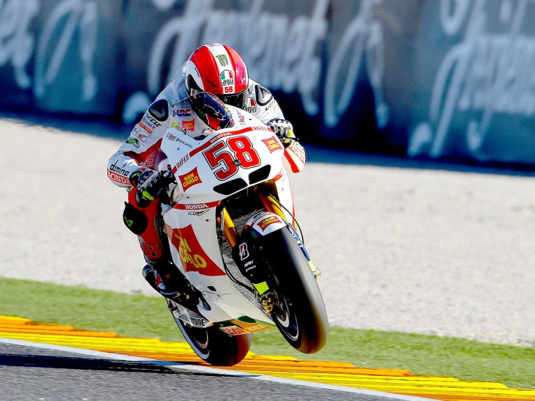 Marco Simoncelli on track