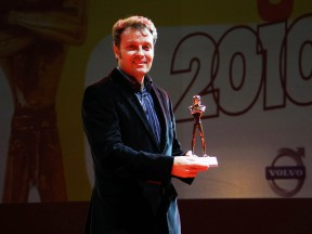 Emilio Alzamora being awarded at the Caschi d'Oro event