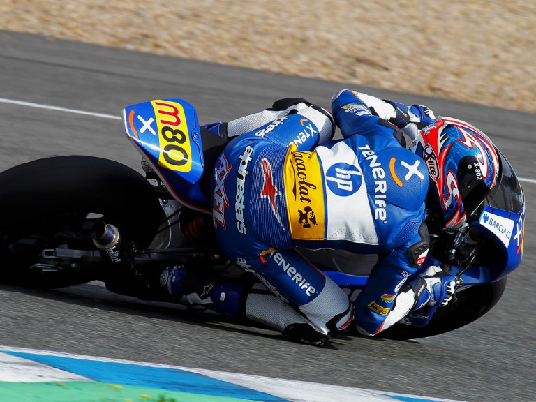 Axel Pons in action at the Jerez test