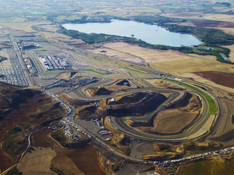 Aerial view of Motorland Aragon Circuit