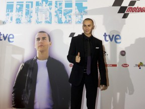 Jorge Lorenzo at the premiere of the 'Jorge' documentary