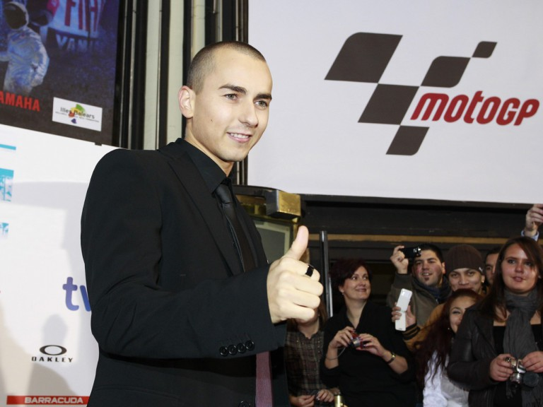 Lorenzo at the premiere of the