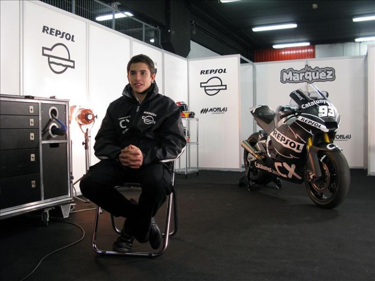 Marc Marquez on his garage
