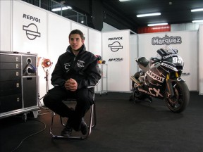 Marc Marquez on his garage