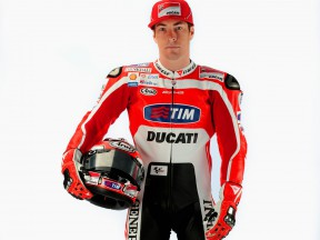 Ducati rider Nicky Hayden in his 2011 leathers