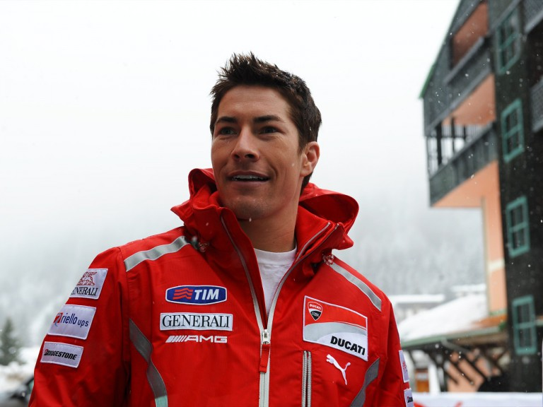 Nicky Hayden at Madonna di Campiglio